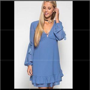 She + Sky Blue Boho hippie dress